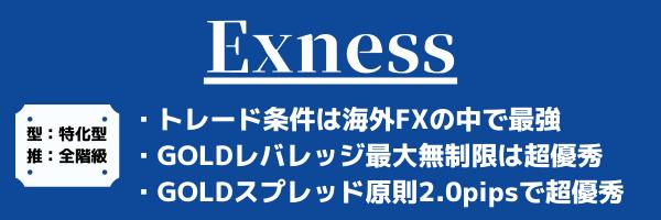 Exnessのゴールド